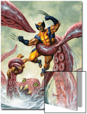 Wolverine/Hercules: Myths, Monsters & Mutants No.4 Cover: Trapped by a Sea Monster Prints by Joe Jusko