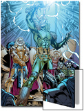 Marvel Adventures Super Heroes No.19: Loki Standing with Mjolnir Print by Kevin Sharpe