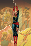 Captain Marvel 14 Cover: Captain Marvel , Ms. Marvel, Mystique Plastic Sign by Joe Quinones