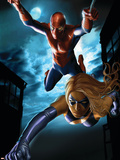 Ms. Marvel Annual No.1 Cover: Spider-Man and Ms. Marvel Plastic Sign by Greg Horn