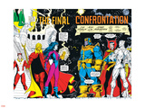 Infinity Gauntlet No.6 Group: Thanos, Nebula, Adam Warlock, Silver Surfer and Dr. Strange Fighting Plastic Sign by George Perez