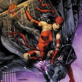 Heroes For Hire No.10 Cover: Elektra and Shroud Wall Decal by Jay Anacleto
