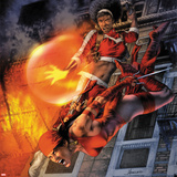 Heroes For Hire No.11 Cover: Elektra and Misty Knight Jumping Wall Decal by Jay Anacleto