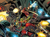 Guardians Of The Galaxy No.1 Group: Rocket Raccoon, Star-Lord and Quasar Plastic Sign by Paul Pelletier