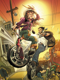Runaways No.10 Cover: Hayes, Molly and Wolverine Plastic Sign by David LaFuente