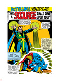 Strange Tales No.161 Cover: Dr. Strange and Baron Mordo Plastic Sign by Dan Adkins