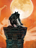 Moon Knight No.4 Cover: Moon Knight Crouching on a Column Plastic Sign by Alex Maleev