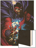 March On Ultimatum Saga Cover: Magneto Wood Print by David Finch