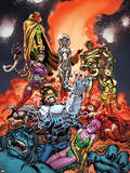 Exiles No.4 Cover: Forge, Jocasta, Machine Man, Ultron and Vision Fighting Plastic Sign by Dave Bullock