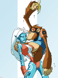 New Warriors No.2 Cover: Namorita and Speedball Flying Plastic Sign by Skottie Young