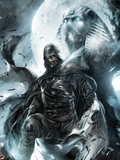 Shadowland: Moon Knight No.2 Cover: Moon Knight Standing Plastic Sign by Francesco Mattina
