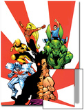 The Official Handbook Of The Marvel Universe Teams 2005 Group: Sunfire Kunstdrucke von Gus Vazquez