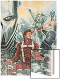 Squadron Supreme No.12 Cover: Hyperion Wood Print by Marco Checchetto