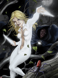 Spider-Island: Cloak & Dagger No.1 Cover: Cloak and Dagger in a Tree Plastic Sign by Mike Choi