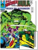 Tales to Astonish No.81 Cover: Hulk and Boomerang Print by Dick Ayers