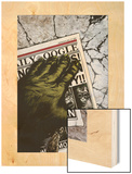 Marvel Apes: Grunt Line No.1 Cover: Speedball Wood Print by John Watson