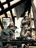 Combat Zone: True Tales Of GIs In Iraq 4 Cover: Marvel Universe Riding Plastic Sign by Dan Jurgens