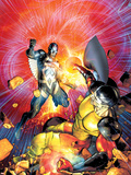 War of Kings No.6 Cover: Black Bolt and Vulcan Plastic Sign by Brandon Peterson