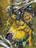 Astonishing Tales No.5 Cover: Mojo and Cannonball Plastic Sign by Kenneth Rocafort
