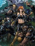 Ultimatum No.5 Cover: Grey, Jean, Beast, Wolverine, Cyclops, Colossus, Storm and Nightcrawler Plastic Sign by David Finch