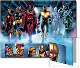 The Thanos Imperative No.3: Quasar, Beta-Ray Bill, Gladiator, Nova, SilverSurfer, Ronan the Accuser Posters by Miguel Angel Sepulveda