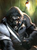 Gorilla-Man No.3 Cover: Gorilla-Man Posing Plastic Sign by Gabriele DellOtto
