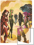 Exiles No.3 Cover: Scarlet Witch, Polaris and Blink Wood Print by Dave Bullock