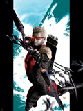 Ultimate Hawkeye No.1 Cover: Hawkeye Shooting his Bow and Arrow Plastic Sign by Kaare Andrews