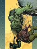 Ultimate Wolverine vs. Hulk No.6 Cover: Hulk and Wolverine Plastic Sign by Leinil Francis Yu