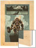 Thunderbolts No.158: Panels with Juggernaut Wood Print by Kev Walker