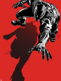 Black Panther: The Most Dangerous Man Alive No.523.1 Cover: Black Panther Crawling Plastic Sign by Patrick Zircher