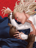 Spider-Island: Cloak & Dagger No.2 Cover: Cloak and Dagger Fighting Plastic Sign by Mike Choi