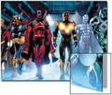 The Thanos Imperative No.3: Quasar, Beta-Ray Bill, Gladiator, Nova, SilverSurfer, Ronan the Accuser Print by Miguel Angel Sepulveda