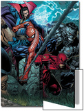 Ultimatum No.4 Cover: Spider-Man, Daredevil, Dr. Strange and Hulk Prints by David Finch