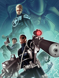 Secret Warriors No.28 Cover: Nick Fury, Steve Rogers, and Dum Dugan Standing with Guns Plastic Sign by Paul Renaud