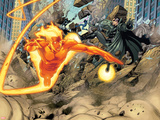 Ultimate Mystery No.3: Human Torch and Nick Fury Flying Plastic Sign by Rafa Sandoval