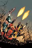 Deadpool 17 Cover: Deadpool, Captain America, Wolverine Plastic Sign by Declan Shalvey