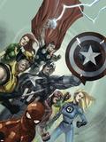 Secret Invasion No.1 Cover: Captain America, Spider-Man, Wolverine, Fantastic Four Plastic Sign by Leinil Francis Yu