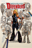 Fearless Defenders 8 Cover: Valkyrie Wall Decal by Mark Brooks