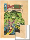 Tales to Astonish No.81 Cover: Hulk and Boomerang Wood Print by Dick Ayers