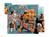 Alpha Flight No.7 Group: Sasquatch, Alpha Flight, Nemesis and Yukon Jack Crouching Wall Decal by Dave Ross