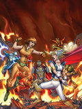 Fear Itself: Youth in Revolt No.6 Cover: Thor Girl and Ultragirl Plastic Sign by Giuseppe Camuncoli