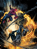 Amazing Spider-Man and Ghost Rider: Motorstorm No.1 Cover Plastic Sign by Roberto De La Torre