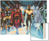 The Thanos Imperative No.3: Quasar, Beta-Ray Bill, Gladiator, Nova, SilverSurfer, Ronan the Accuser Wood Print by Miguel Angel Sepulveda