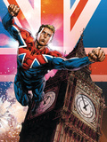 Captain Britain and MI13 No.13 Cover: Captain Britain Plastic Sign by Mico Suayan