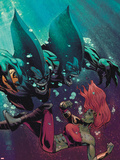 Fear Itself: The Deep No.3 Cover: Tigershark and Lyra Fighting Under Water Plastic Sign by Lee Garbett