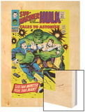 Tales to Astonish No.83 Cover: Hulk and Thunderbolt Ross Wood Print by Dick Ayers