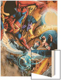War of Kings: Ascension No.4 Group: Gladiator, Havok and Darkhawk Wood Print by Wellinton Alves