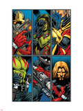 Guardians Of The Galaxy No.2 Group: Gamora, Rocket Raccoon and Adam Warlock Plastic Sign by Paul Pelletier