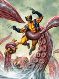 Wolverine/Hercules: Myths, Monsters & Mutants No.4 Cover: Trapped by a Sea Monster Wall Decal by Joe Jusko